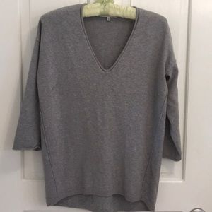 Madewell V-Neck Soft Gray Sweater Classic